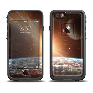 The Earth, Moon and Sun Space Scene Apple iPhone 6 LifeProof Fre Case Skin Set