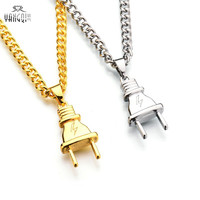 Hot Sale Hip Hop Baseball Bat Gun Necklace&Pendant GOLD Silver Weed Leaf Hiphop Long Chains Necklaces Men Women Jewelry