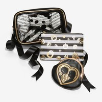 Licensed cool Disney The Nightmare Before Christmas Jack Sally 3pc Cosmetic Make-up Bag Set