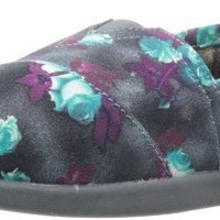 BOBS from Skechers Women's World-Floral Espedrille,Charcoal,6 M US