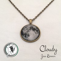 Never Take It Off — Cloudy NTIO Moon Necklace by Jess Bowen