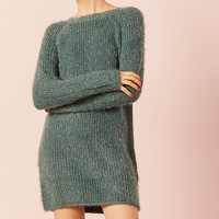 Fuzzy Knit Dress