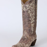 Corral Boots® Ladies' Crater Bone Embroidered Boots