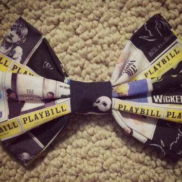 Playbill Hair Bow by MaggieBeeDesigns on Etsy