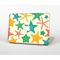 The Tan And Colorful Vector StarFish Skin for the Apple MacBook Air 13""