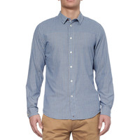 Red EarSlim-Fit Striped Cotton Shirt|MR PORTER