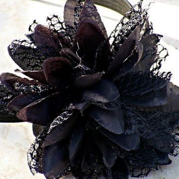 Black Floral Headband Hair Accessories Flower Woman Direct Checkout