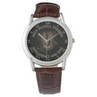 Abstract Jack Russell Terrier Dog Wrist Watches