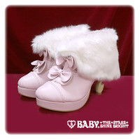 BABYねこ足ファーブーティー/BABY cabriole leg booties with fur   BABY,THE STARS SHINE BRIGHT