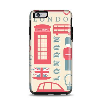 The Vector London Time Red Apple iPhone 6 Plus Otterbox Symmetry Case Skin Set