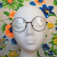 Clear Round Sunglasses Vintage Circle Glasses - Lennon