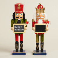 Traditional Nutcrackers with Chalkboard, Set of 2 - World Market