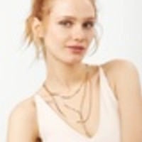Amber Layered Y-Chain Necklace