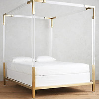 Oscarine Lucite Four-Poster Bed