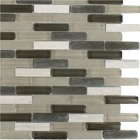 Splashback Tile, Cleveland Staunton Mini Brick Mixed Materials Floor and Wall Tile - 6 in. x 6 in. Tile Sample, L1A4 MOSAIC TILE at The Home Depot - Mobile