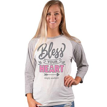 Simply Southern Vintage Collection Bless Your Heart Long Sleeve T-Shirt