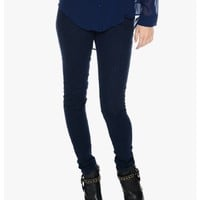 Navy Wild On Skinny Jeans | $11.50 | Cheap Trendy Jeans Chic Discount Fashion for Women | ModDeals.