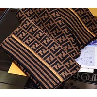 Fendi Ladies Scarf Scarf Square FF Jacquard Knitting Pattern Scarf
