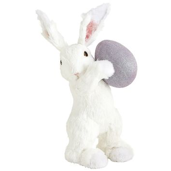 White Bunny with Egg