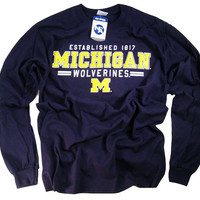 Michigan Shirt T Shirt Wolverines College University Apparel Officially Licensed By The NCAA