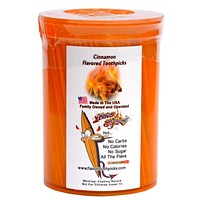 300 Count Cinnamon Flavored Toothpicks With Reusable Plastic Pop Top