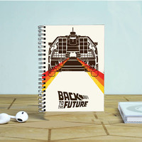 Back To The Future Vintage Poster Photo Notebook Auroid