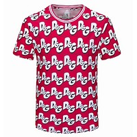 Dolce&Gabbana New Men Animal Digital Print Round Neck Half Sleeve T-Shirt