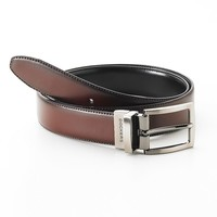 Dockers Stitched Reversible Leather Belt - Men, Size: