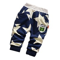 2017 new baby pants Cotton High quality fashion 5 stars baby boy pants 0-3 year childen pants baby girls pants Children Wit