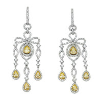 An Antique Inspired Pair of White & Gold Earrings