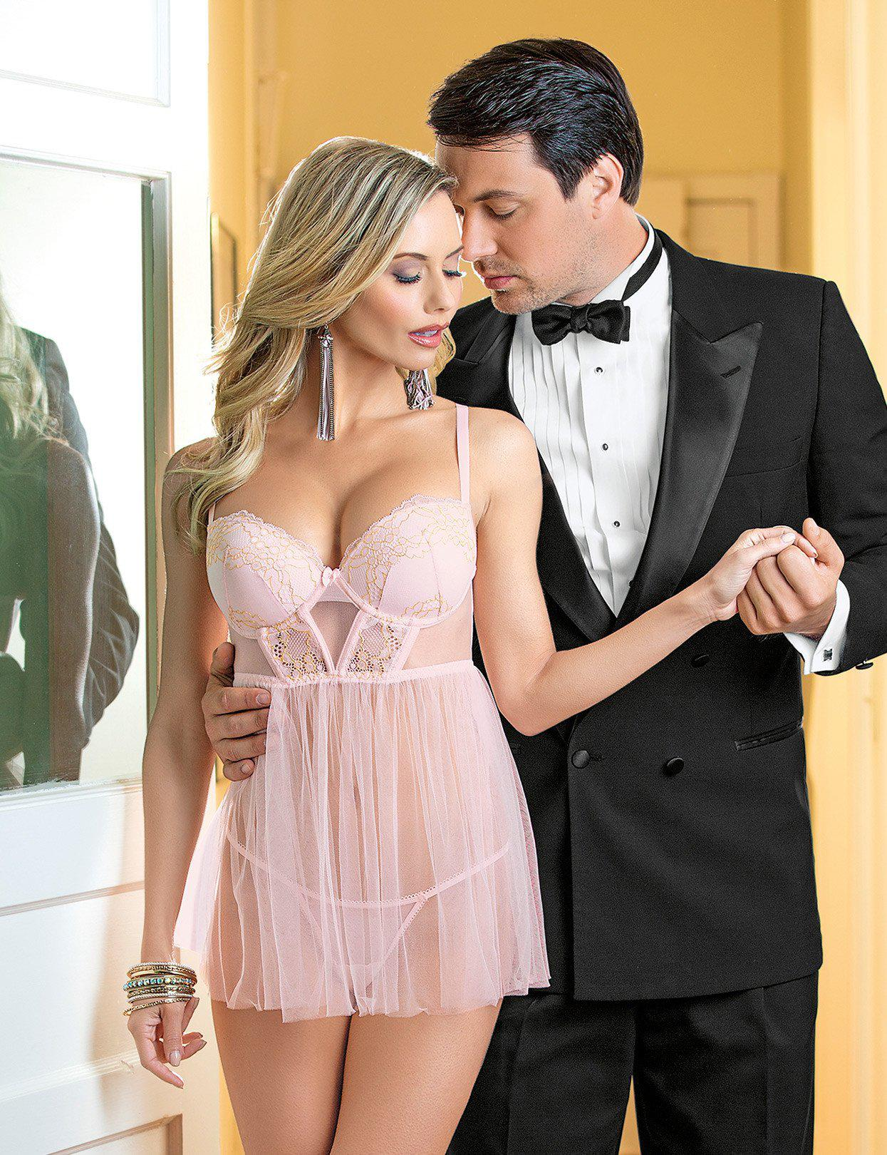 Image of Pretty in Pink & Gold Babydoll