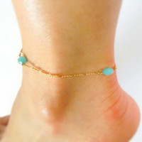 Gold Anklet, ankle bracelet fashion jewelry