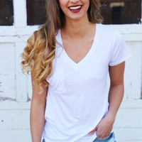 Weekday Love V-Neck Tee {White}