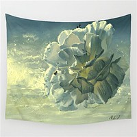Surreal Camellia Tapestry