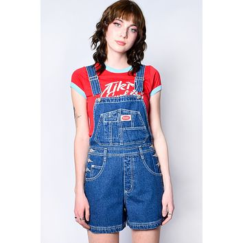 Over It Deadstock Overalls - Denim Blue