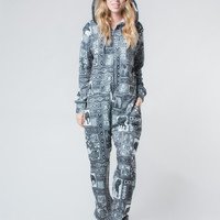Orok Gray Fleece Lined Onesuit