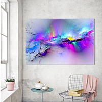 Oil Painting Wall Pictures For Living Room Home Decor Abstract Clouds Colorful Canvas Art Home Decor No Frame