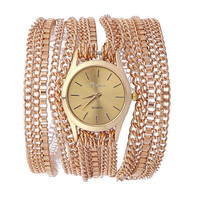 Unique Women Gold Bracelet Watch