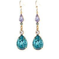 Mel Swarovski Crystal Earrings (Turquoise)