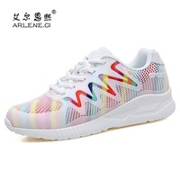 Popular Woman Shoes Breathable Mesh Sneakers Autumn Winter 2018 Tennis Shoes Women Soft Ligh Sport Shoes Trainers Tenis Feminino