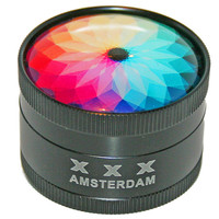 Herb Grinder with Unique Custom Designed Top - 2 Inches in Diameter x 1 1/2 Inches High - Style A34