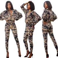 Versace Fashion Leisure Printed Shirt Two-piece Set