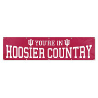 Indiana Hoosiers NCAA Applique & Embroidered Party Banner (96x24)