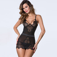 Fashion Women Love Sexy Hot Underwear Lace Babydoll Lingerie Sleepwear Open Bra Crotch = 4662186180