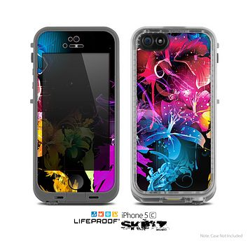 The Magical Glowing Floral Design Skin for the Apple iPhone 5c LifeProof Case