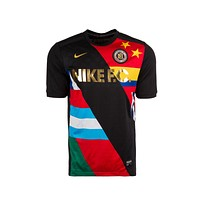 Nike Men's FC Football Club World Cup Flags Soccer Black Jersey T-Shirt