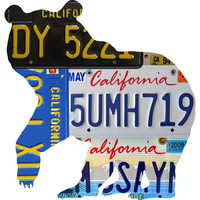 California License Plate Grizzly Bear