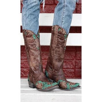 Old Gringo Erin Boots~ Custom Cowgirl Kim Color and Embroidery