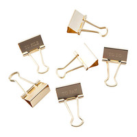 See Jane Work Engraved Task Binder Clips Gold Pack Of 6 by Office Depot & OfficeMax