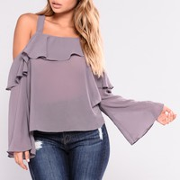 Myah Ruffle Top - Orchid